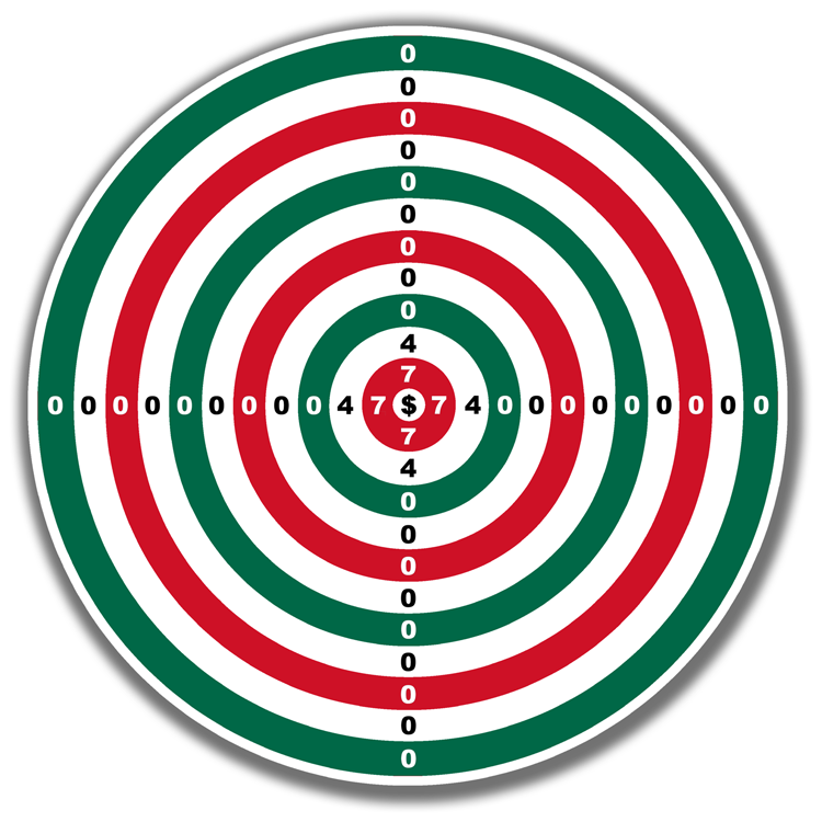 """LG Williams / The Estate of LG Williams™, Green-White-Red Target (Slim) , 48"""" diameter, Vinyl and Engineer Grade Reflective Sheeting on Heavy-Duty Aluminum"""