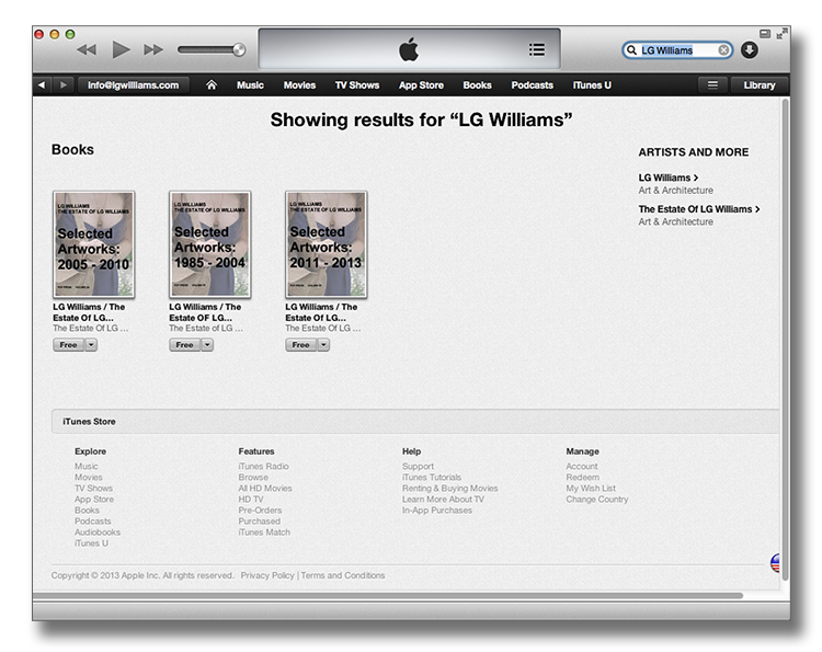 LG Williams Now Available In iTunes