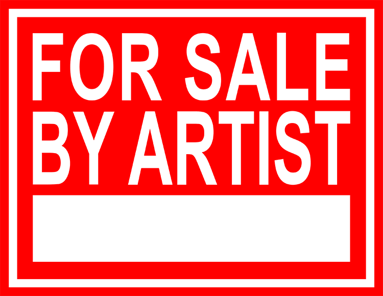 """LG Williams, For Sale By Artist or A One-on-One Interview (Close Sources Tell Us) #11, Red on White, 2014, 8 x 10"""", Vinyl and Engineer Grade Reflective Sheeting on Heavy-Duty Aluminum"""