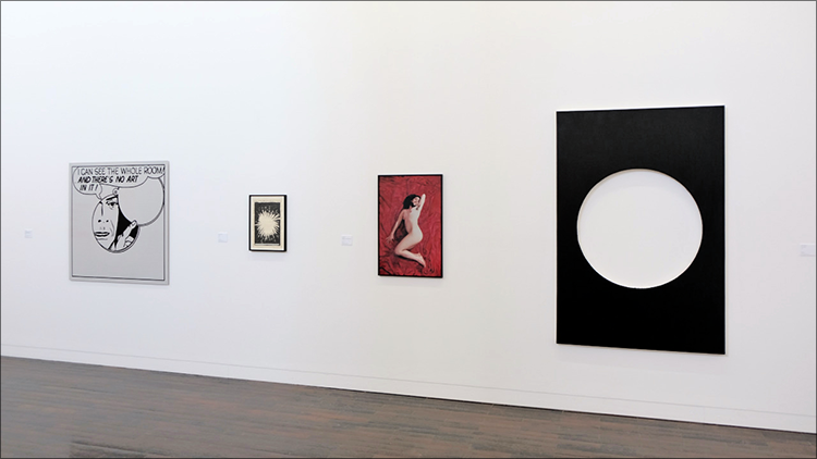(Installation view) Le Souffleur, Schürmann Meets Ludwig, Ludwig Forum Aachen, Germany (L to R) LG Williams, Raymond Pettibon, Zoe Leonard & Steven Parrino