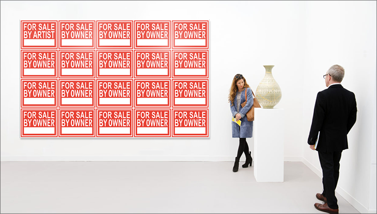 "LG Williams exhibits new artwork for Frieze London 2016 Art Fair: ""For Sale By Artist / For Sale By Owner ∞"". Presented by Fuga Los Angeles."