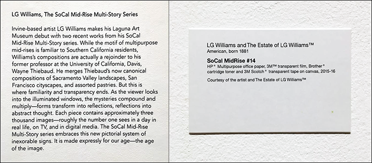 LG Williams at Laguna Art Museum -- Thru Jan 2017