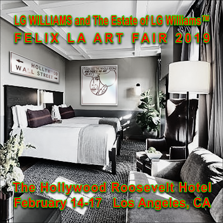 LG Williams Pop-Up at The Hollywood Roosevelt Coincides with Frieze LA / Felix LA held in Los Angeles February 14-17, 2019.