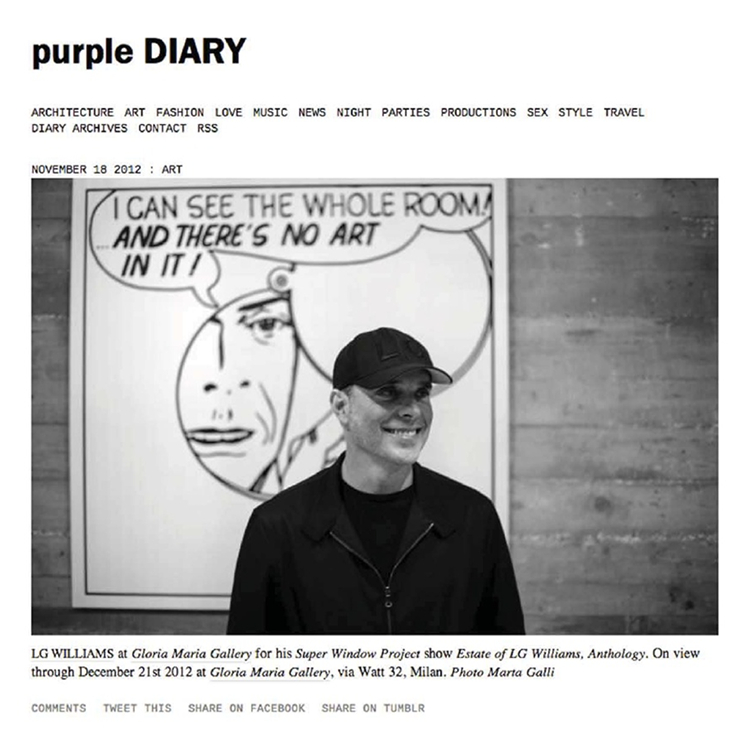LG Williams Purple Diary November 18, 2012