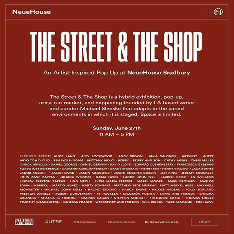 LG Williams Appears In The Street & The Shop Pop-Up at Neuhouse Curated by Michael Slenske